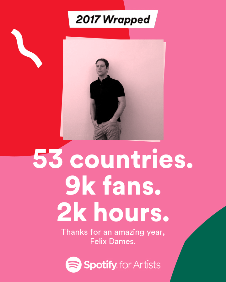 Spotify Wrapped 2017 Felix Dames